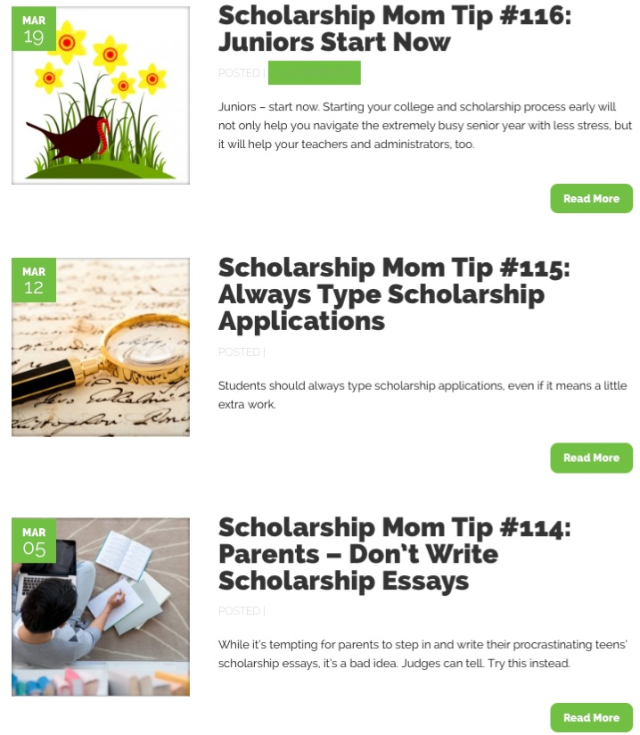 Scholarship Friday: Check Out Scholarship Mom's Tips on ...